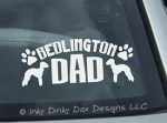 Bedlington Terrier Dad Decal