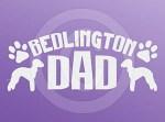 Bedlington Terrier Dad Decals