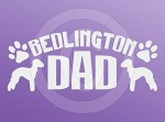 Bedlington Terrier Dad Decals