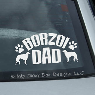 Borzoi Dad Decal