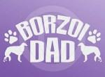 Borzoi Dad Decals