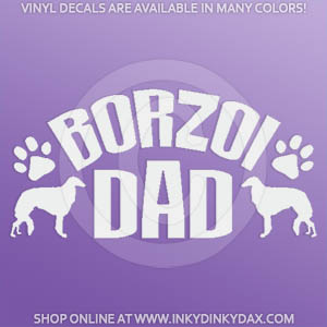 Borzoi Dad Decals