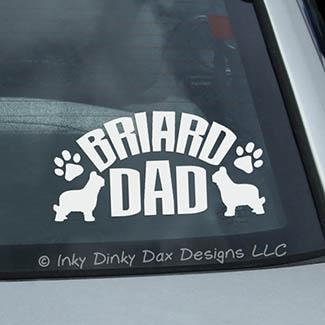 Briard Dad Decal