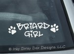 Briard Girl Decal