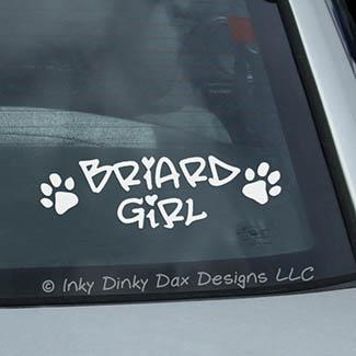 Briard Girl Decal