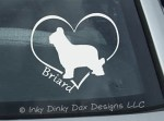Love Briards Decal