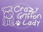 Brussels Griffon Lady Stickers