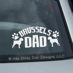 Brussels Griffon Dad Decal