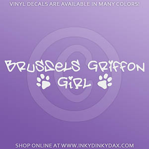 Brussels Griffon Girl Decals