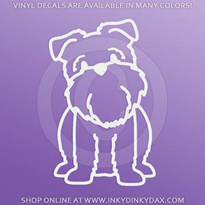 Cartoon Brussels Griffon Decals