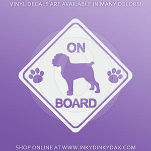 Brussels Griffon On Board Decal