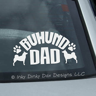 Buhund Dad Decal