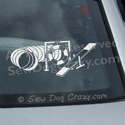 Tunnel Tire Teeter Window Decal