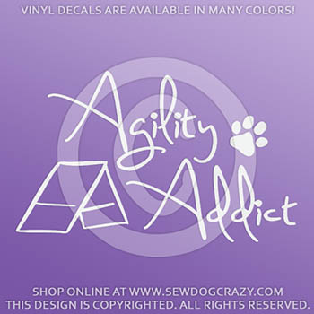 Agility Addict Vinyl Stickers