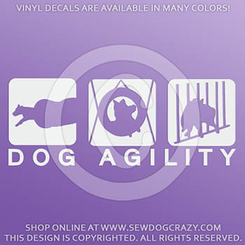 Vinyl Dog Agility Stickers