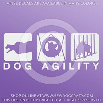 Vinyl Dog Agility Stickers