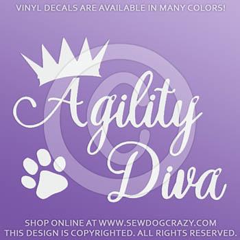 Vinyl Agility Diva Car Stickers