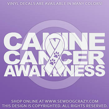 Canine Cancer Car Window Sticker