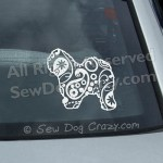 Paisley Old English Sheepdog Window Stickers
