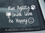 Be Happy Agility Decal