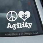 Peace Love Agility Sticker
