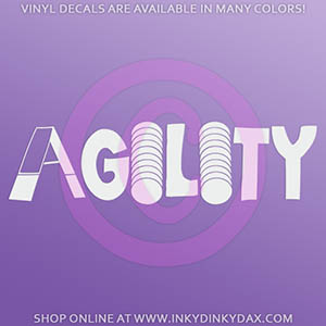 Dog Agility Vinyl Stickers