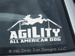 Agility All American Dog Stickers