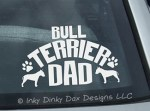 Bull Terrier Dad Decal