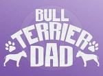 Bull Terrier Dad Sticker