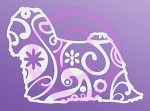 Paisley Lhasa Apso Sticker