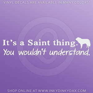 Saint Bernard Decal