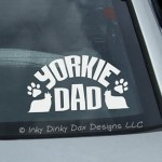 Yorkie Dad Decal