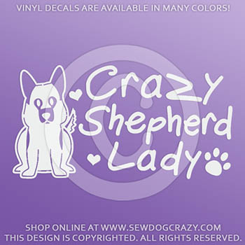 German Shepherd Lady Car Sticker
