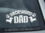 Dachshund Dad Decal