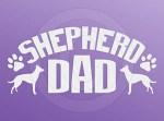 Dutch Shepherd Dad Car Sticker