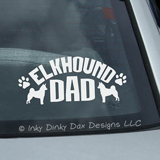 Elkhound Dad Decal