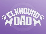Elkhound Dad Car Sticker