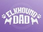 Elkhound Dad Car Sticker