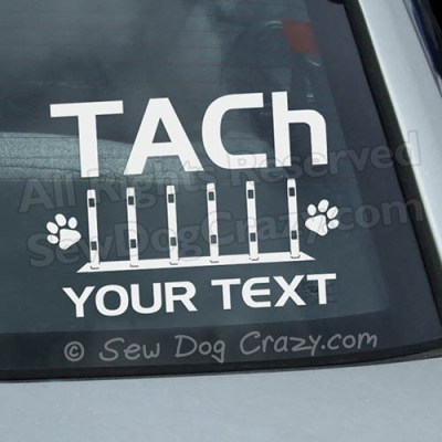 Personalized Agility Title Stickers