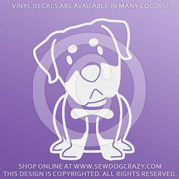 Kawaii Rottweiler Vinyl Car Decals