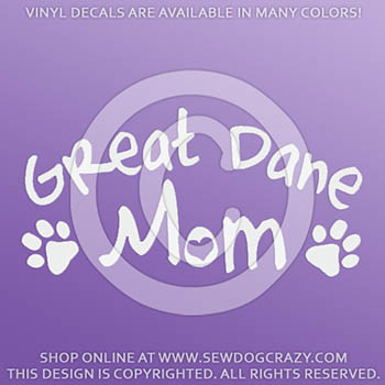 Great Dane Mom Decals