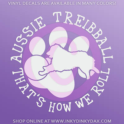 Aussie Treibball Car Decal