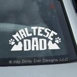 Maltese Dad Car Sticker