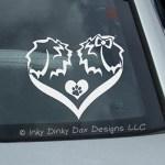 Sheepdog Heart Pair Decal