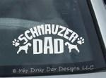 Schnauzer Dad Car Sticker