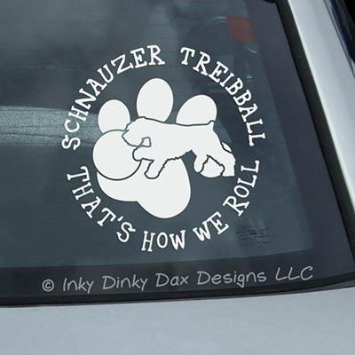 Schnauzer Treibball Car Sticker