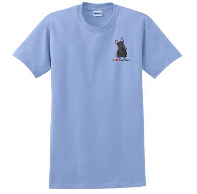 Embroidered Scottish Terrier TShirt