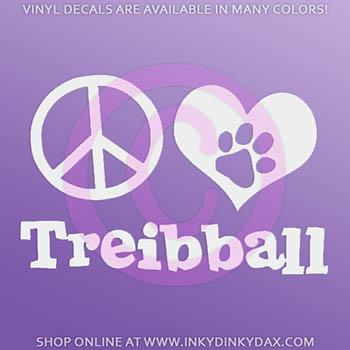 Peace Love Treibball Car Stickers