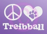 Peace Love Treibball Car Stickers