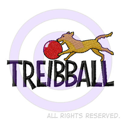 Cartoon Treibball Embroidery